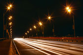 Night traffic light of big city — Стоковое фото