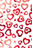 Red hearts background — ストック写真