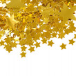 图库照片: Golden stars isolated on white background