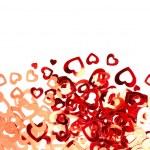 Valentine hearts background — Stock Photo