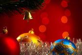 Decoración de la navidad. enfoque superficial — Foto de Stock