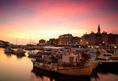 European town at adriatic sea — Stock Photo