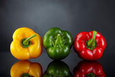 Sweet pepper on dark background — Stock Photo