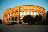 Antiguo anfiteatro romano. pula, croacia — Foto de Stock