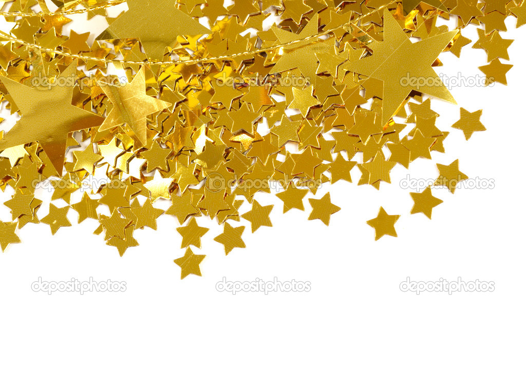 Golden stars isolated on white background — Stock Photo #16333783