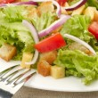 Salad on white plate — Stock Photo #18666617