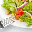 Stock Photo: Salad on white plate