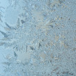 Frosty on winter glass — Stock Photo