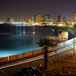 Tel Aviv. Night view from Jaffa - Stock Photo