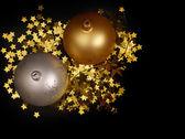 Julgranskulor och dekorationer — Stockfoto