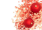 Bolas de natal e decorações — Foto Stock