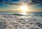 Amanecer en el mar muerto, israel. — Foto de Stock