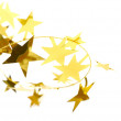 Golden stars isolated on white background — Stockfoto