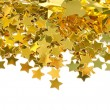Golden stars isolated on white background — Stock Photo