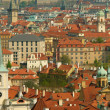 Prague spring panorama - Stock Photo