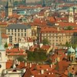 Prague spring panorama — Stock Photo