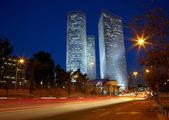 Tel Aviv night cityscape, Israel — Stock Photo