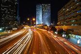 Atasco de tráfico de la noche — Foto de Stock