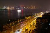 Vista notturna di wuhan, Cina — Foto Stock