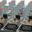 Audio control console — Stock Photo