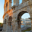 Ancient Roman Amphitheater. Pula, Croatia - Stock Photo