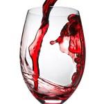 Red wine splashing — Stock Photo