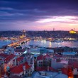 Stock Photo: Istanbul Sunset Panorama