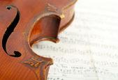 Fragment of violin — Stock Photo