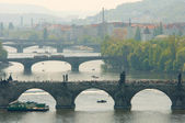 Prague's bridges — Stockfoto