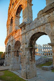Ancient Roman Amphitheater. Pula, Croatia — Stock Photo