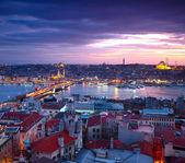 Istanbul Sunset Panorama — Stock Photo