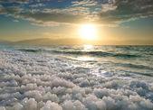 Lever du soleil à la mer morte, israël. — Photo