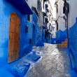 Inside of moroccan blue town Chefchaouen medina — Stock Photo
