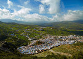 Chefchaouen blue town, Morocco. Bird view — Stock Photo