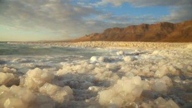 Dead Sea coastline — Stock Video