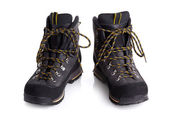 A pair of  hiking boots isolated on white background — Stock Photo