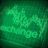 Stock exchange graph — Stock Photo