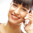 Successful businesswoman with cell phone — Stock Photo