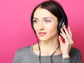 Beautiful woman with headphones — Stock Photo