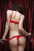 Sexy butt girls in underwear — Stock Photo