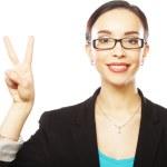 Счастливый деловая женщина — Стоковое фото