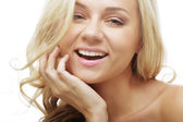 Spotless young blond woman — Stock Photo