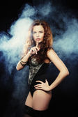 Elegance lady in the lingerie — Stock Photo