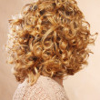 Beautiful female curly blond hairs - back view — Stock Photo #28916833