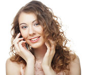 Young woman with curly hair — Stock Photo