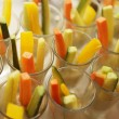 Assorted raw vegetables sticks — Stock Photo