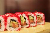 Fresh and tasty sushi — Stock Photo
