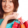 Shopping sexy woman — Stock Photo