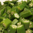 Stock Photo: Macro view of okra