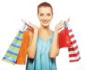 покупки девушка — Стоковое фото